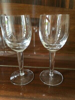 "Denby Red Wine Glasses 22cm (8.5"") High x 2 Weighs 355mm Each"