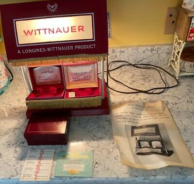 Vintage Longines Wittnauer Watch Spring Swing Store Display Lights Up Motorized