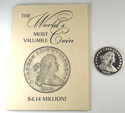 Gallery Mint Museum 1804 Proof Silver Dollar Fantasy Coin with Book, Ron Landis