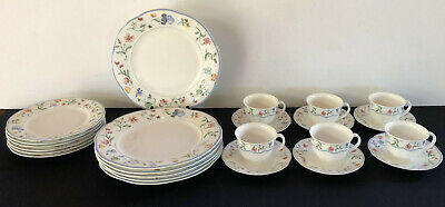 Villeroy & Boch Bone China MARIPOSA Pattern Service for 6