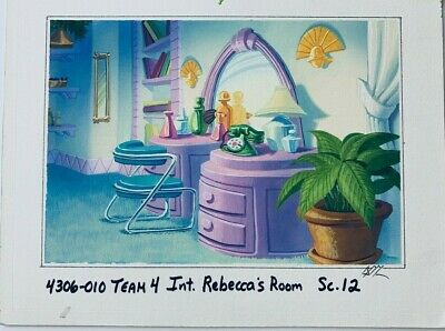Rebecca's Room TaleSpin Original Background Color Key Painting Disney TV