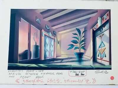 Rebecca's Place TaleSpin Original Background Color Key Painting Disney TV