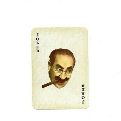 """RARE VINTAGE """"Groucho Marx (of Marx Brothers fame)"""" JOKER Playing Card #74"""
