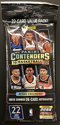 2019-20 Panini Contenders Basketball PACK 22 Cards!