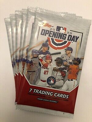 (6) Pack Lot 2020 Topps Opening Day Baseball From Box