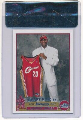 Lebron James 2003/04 Topps #221 Rc Rookie Card Cleveland Cavaliers Sp Bgs 9 Mint