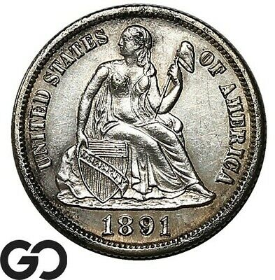 1891-S Seated Liberty Dime, Collector Coin San Francisco Issue