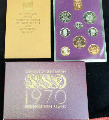 1970 UK Royal Mint Proof Coin Year Pack Set - Last LSD Coins Issued Stunning set