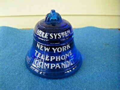 New York Telephone Company Bell System Cobalt Blue Paper Weight