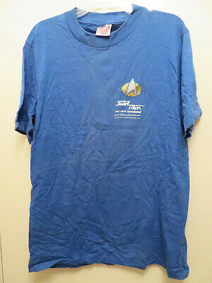 Vintage Star Trek TNG Paramount Pictures 1987 USS Enterprise T Shirt L