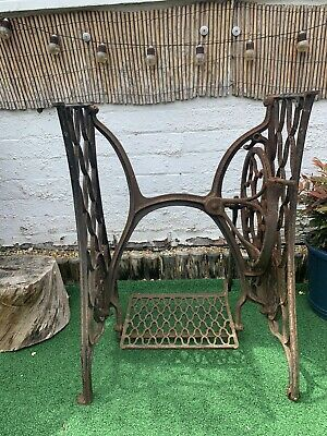 Vintage Cast Iron Singer Sewing Machine Treadle Stand
