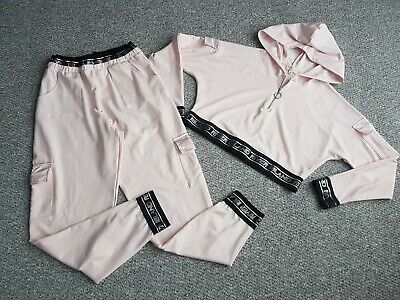 Girls River Island Pink Hoody Joggers Outfit Set Age 11-12 Years