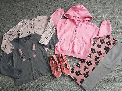Girls Next Bunny Bundle Tops Shoes Hoody Leggings Age 5-6 Years