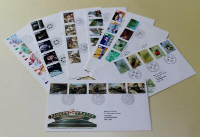 GB 1985 FIRST DAY COVER STAMPS x 8 FDC COLLECTION ROYAL MAIL COMMEMORATIVES #15