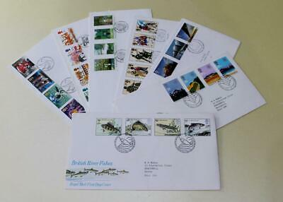 GB 1983 FIRST DAY COVER STAMPS x 7 FDC COLLECTION ROYAL MAIL COMMEMORATIVES #8