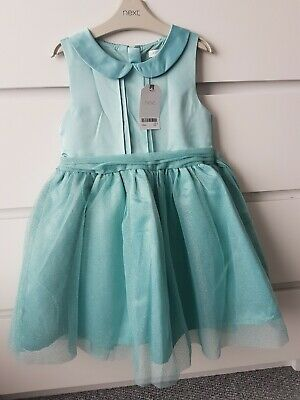 Girls Next Sage Gold Party Occasion Dress Age 5-6 Years Bnwt