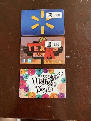 Walmart, Texas Roadhouse Gift Cards! $125 VALUE!