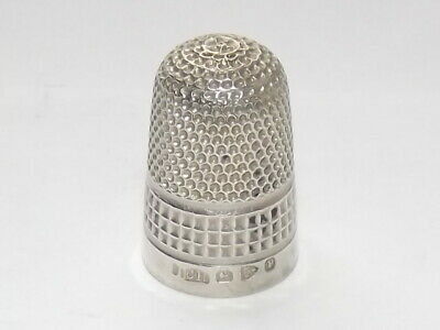 Antique Victorian Charles Horner Solid Silver Sterling Thimble, Chester 1898