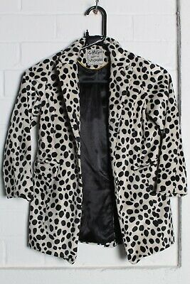 Next Girls Kids Youths Leopard Print Jacket - Size Age 5-6 Years (hh6)