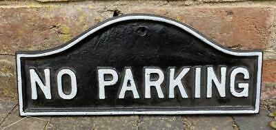 Cast Iron Wall Sign - NO PARKING - 37cm x 16cm
