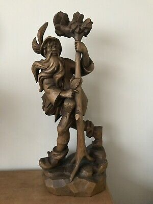 Large Vintage Rubezahl Carved Wooden Wood Black Forest ?  - 55cm High