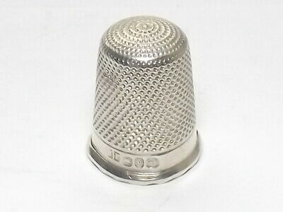 Antique Victorian Solid Silver Sterling Thimble, H Fowler  Birmingham 1888