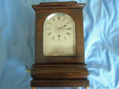 mahogany four glass fusee library clock 8 day with invar pendulum 11 inches high