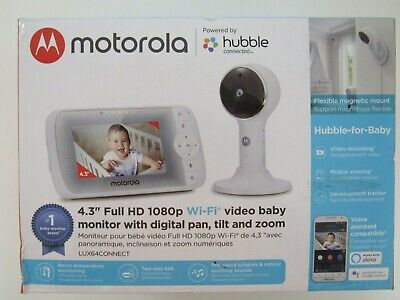 Motorola Hubble 4.3-Inch Color Screen Video Baby Monitor LUX64CONNECT
