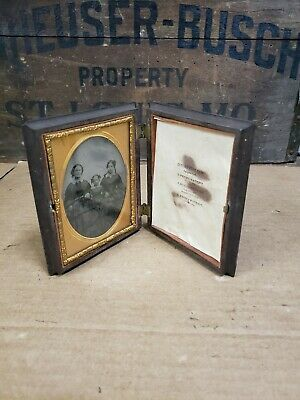 Antique 1856 Picture Frame With Picture