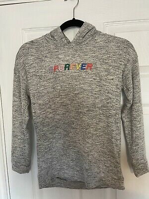 BNWT Girls Grey M&S Hoodie Age 10-11 With #FOREVER Logo