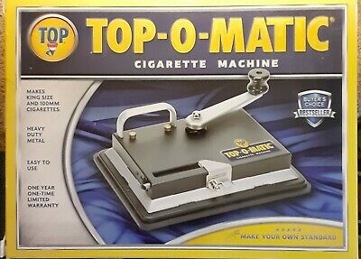 New Top-O-Matic Cigarette Rolling Machine. BRAND NEW