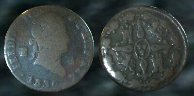 ☆ 200 Year Old - Spanish Copper Coin !! ☆ VERY NICE !!