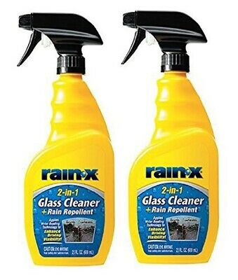 2 No (£6.49 each) Rain-X 2-in-1 Rain Repellent and Glass Cleaner Spray - 500ml