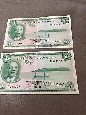 bank of malawi bill one pound 1964