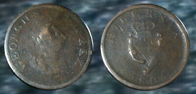 ☆ 200 Year Old - King George III Colonial Copper Coin !! ☆ w/ Irish Harpie !!
