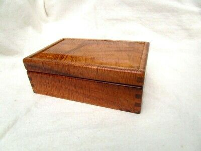 Native Hawaiian Koa Raised Panel Jewelry Box Curly Figure