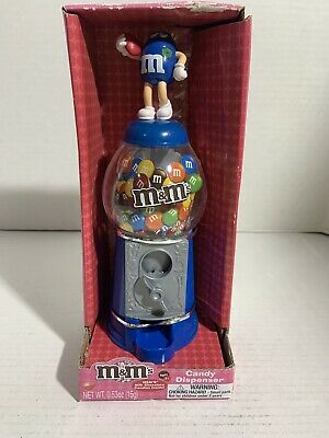 M&M's Skateboard Candy Dispenser W/ the Blue M&M Holding a Heart NIB Never