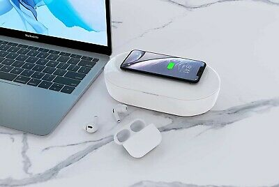 Wireless Charging Sterilisation Charging Kiosk for phones, keys, rings, watches