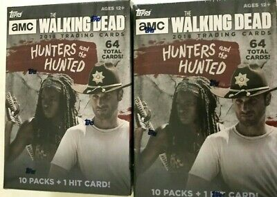 2018 Topps  Amc The Walking Dead Hunters And The Hunted Blasters   (2 Box Lot  )