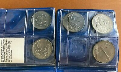 POLAND 5 LARGE COPPER NICKEL COINS FROM 1960'S ALL BU ( stock# 018)