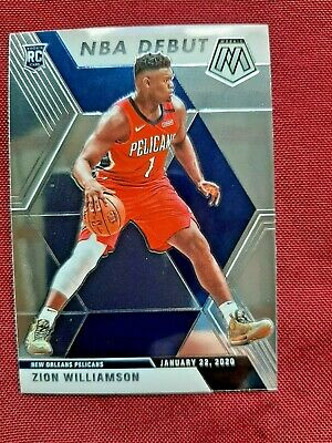 *Zion Williamson* 2019-20 Panini Mosaic NBA Debut Base #269 RC Rookie
