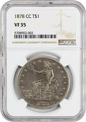 1878-CC Trade$ NGC VF35 - Scarce Date - US Trade Dollar - Scarce Date