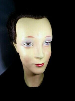 Vintage Made In Germany Bust Head Mannequin Human Marked on Neck