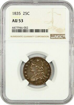 1835 25c NGC AU53 - Bust Quarter - Bust Type Coin