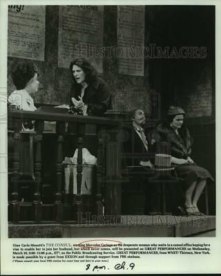 Press Photo Marvellee Cariaga performs in The Consul, on PBS. - sap01694