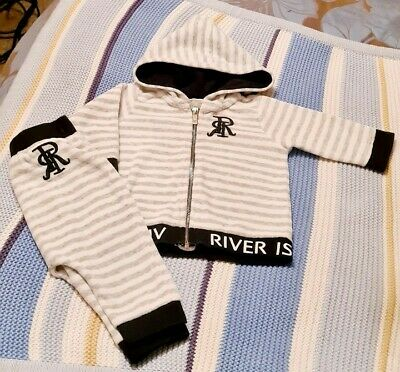 River island baby boys 2 piece valour outfit Tracksuit Joggers & jacket 3-6m vgc