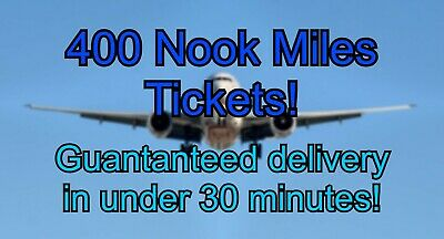 400 Nook Miles Tickets - Instant Delivery - Animal Crossing New Horizons