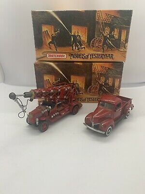 Matchbox Models Of Yesteryear Fire Engine Pair Of Models  Job Lot Collection