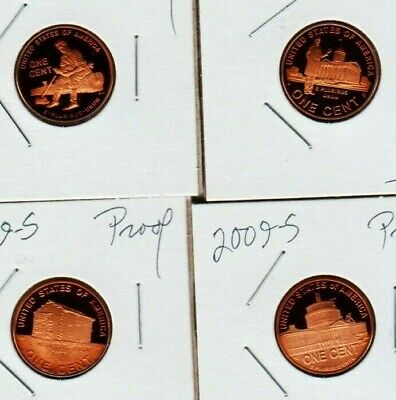 2009 s Lincoln Cent SET BiF 4 Penny Proof Coin Professional Childhood Presidency