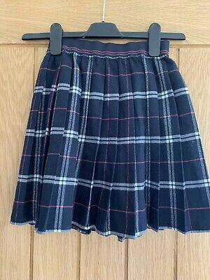 Abercrombie And Fitch Girls Age 13/14 Navy Pleated Skirt